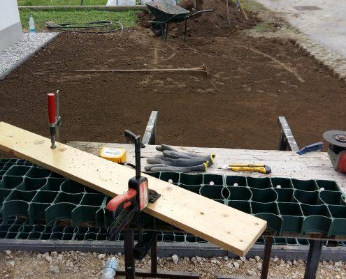 Priprava in razrez rastrskih plošč za parkirišče