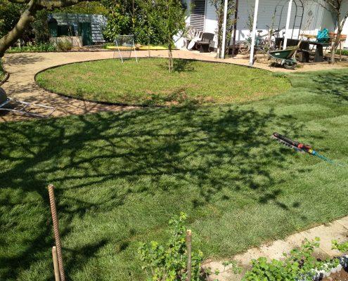 Polaganje trave na predpripravljen teren