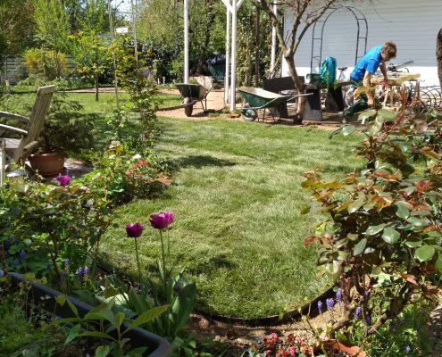 Različne oblike vrta in zelenice