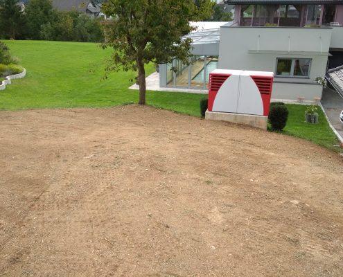 Okolica pripravljena za setev trave